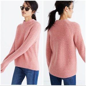 Madwell Northfield Mockneck Knit Sweater Pink